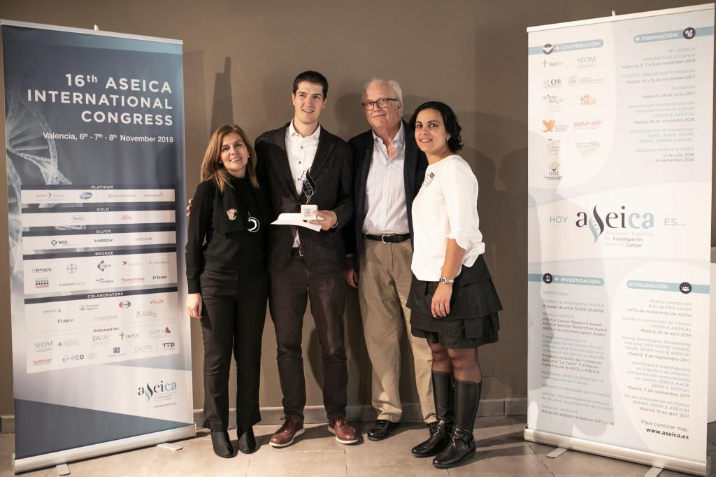 El Dr. Roger Gomis recibió el ASEICA Young Investigator Award 2018